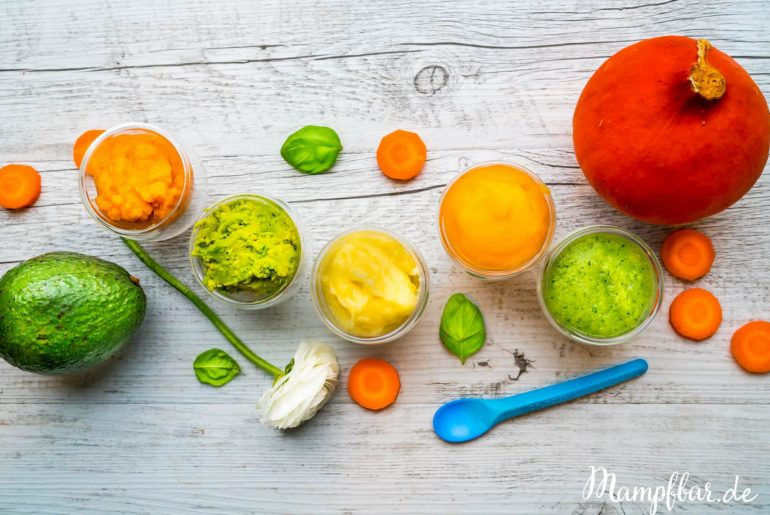 Die fünf besten Gemüsesorten für den Beikosstart - einfache Grundrezepte für Babybrei und weitere Tipps für den Beikoststart findest du bei uns auf mampfbar.de