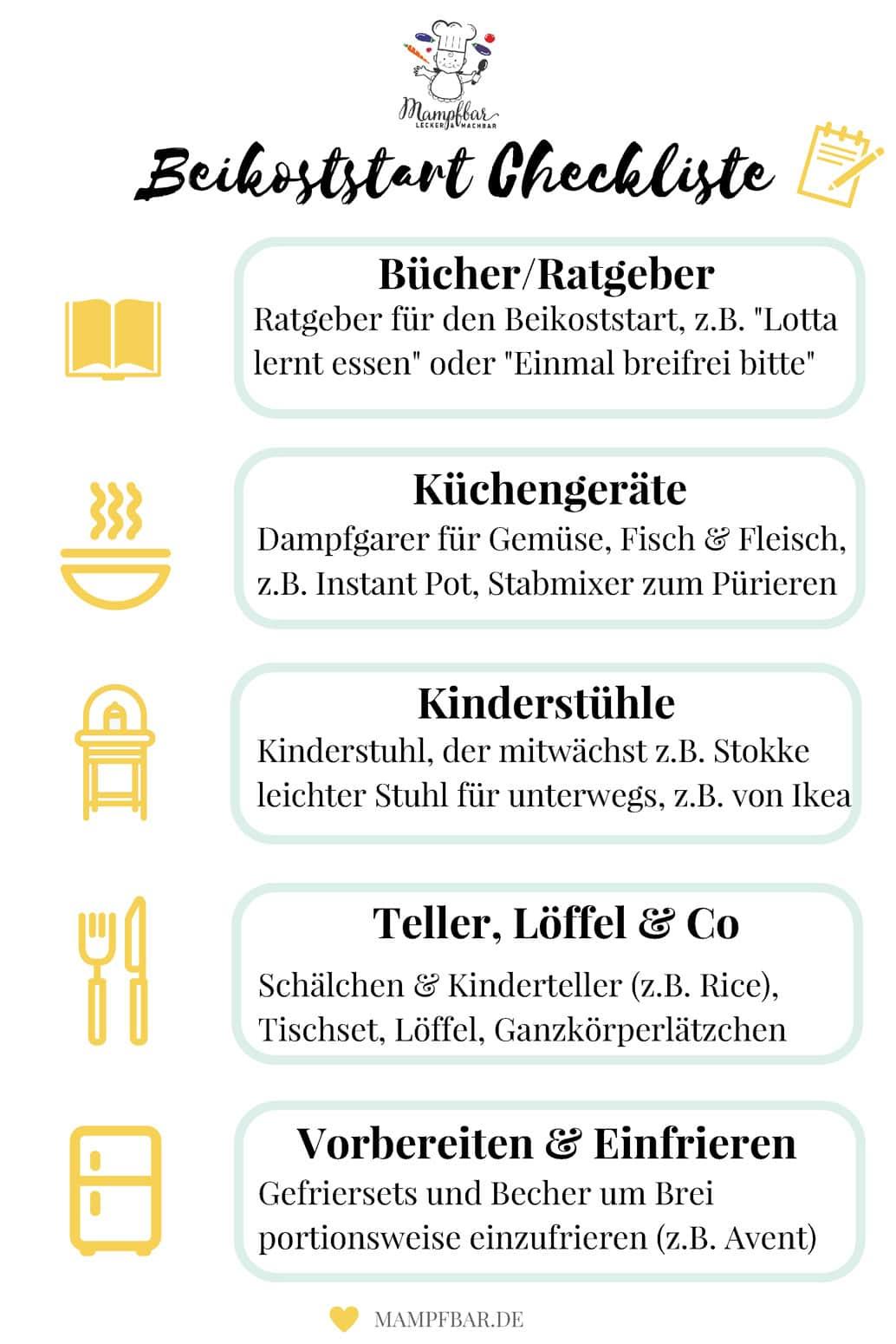 Ladet euch kostenlos unsere Beikost-Checkliste runter und erhaltet viele einfache Tipps und Rezepte für den Beikoststart: mampfbar.de