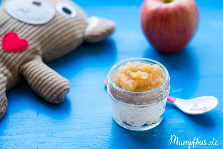 Easypeasy Rezept für die ganze Familie: Milchreis mit selbst gemachtem Apfelmus