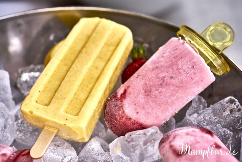Toll für Kinder: dieses Eis ist ohne Zucker! Klickt hier für das ganz einfache Rezept und weitere leckere Ideen für eure Familie.Selbst gemachtes Eis ohne Zucker