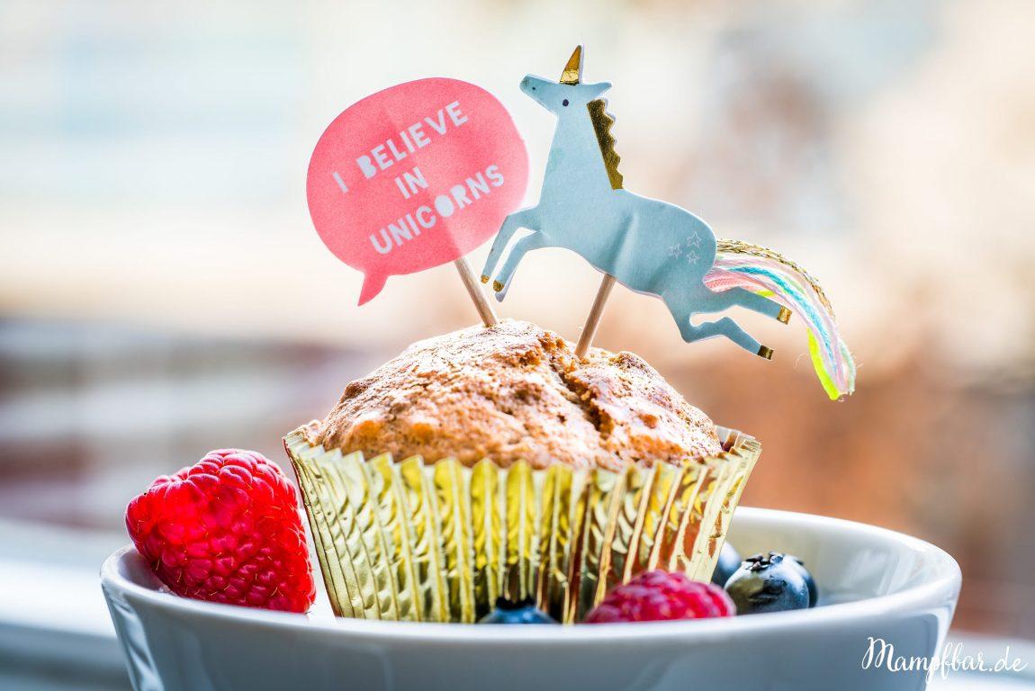 Gute Laune Einhorn Muffins Ohne Raffinierten Zucker Mampfbar
