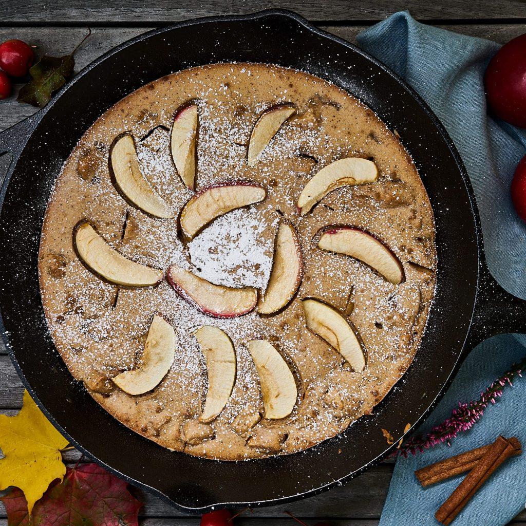 Apfel-Zimt Pfannkuchen aus dem Ofen