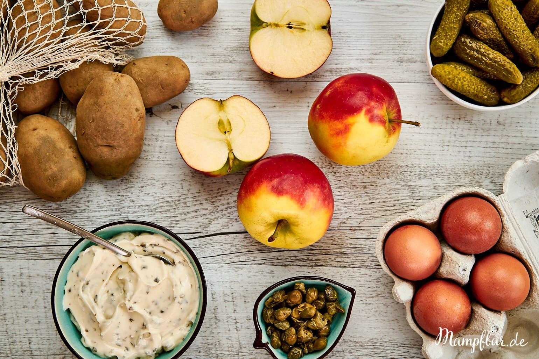 Kartoffelsalat mit Äpfeln - für Kinder und Familien